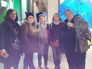 Con Mariola, Carmen, Noe y Cristina