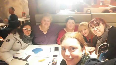 Con María, Noe, Amparo, Carmen y María